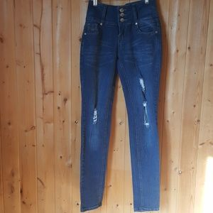 Dismante distressed high waisted jeans SZ 1 Junior